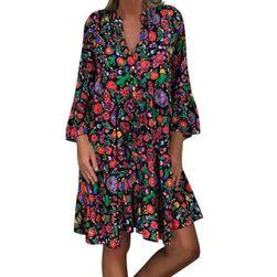 Damska plus size sukienka DS4578