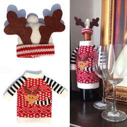 Ubranko świąteczne na butelkę z winem