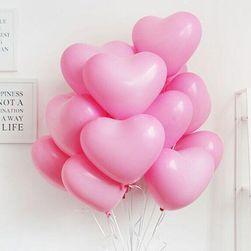 Balení balónků ve tvaru srdce - růžová barva
