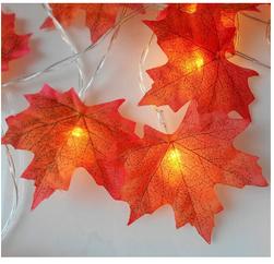 LED гирлянда с листочками