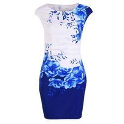 Dámské šaty Lyanna 9115 Modrá