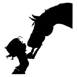 Samolepljiva nalepnica za auto - Dete i konj