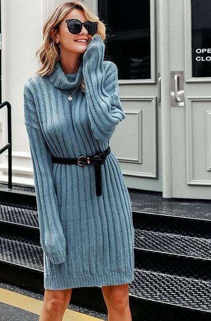 Dámské pletené šaty Ellon 1