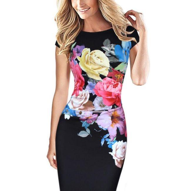 Obleka z motivi cvetja 1