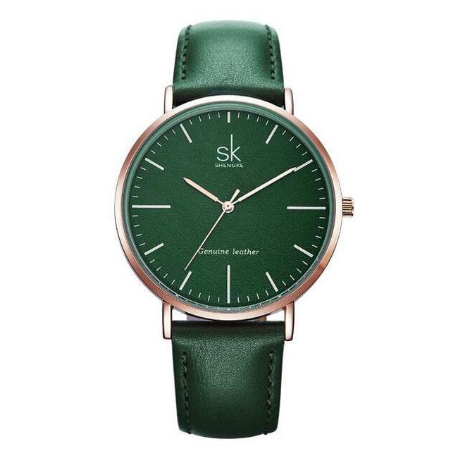 Jednobarevné elegantní hodinky - 3 barvy 1
