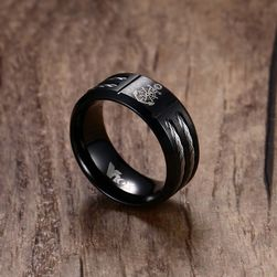 Pánský prsten s kotvou - více velikostí