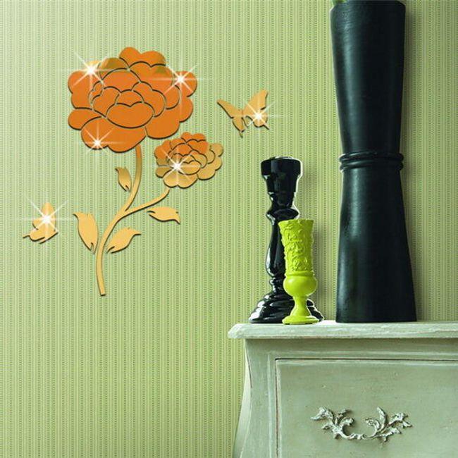 3D fali matrica - elegáns virág 1