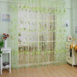 Занавеска с мотивами тюльпанов - 3 цвета Зеленый