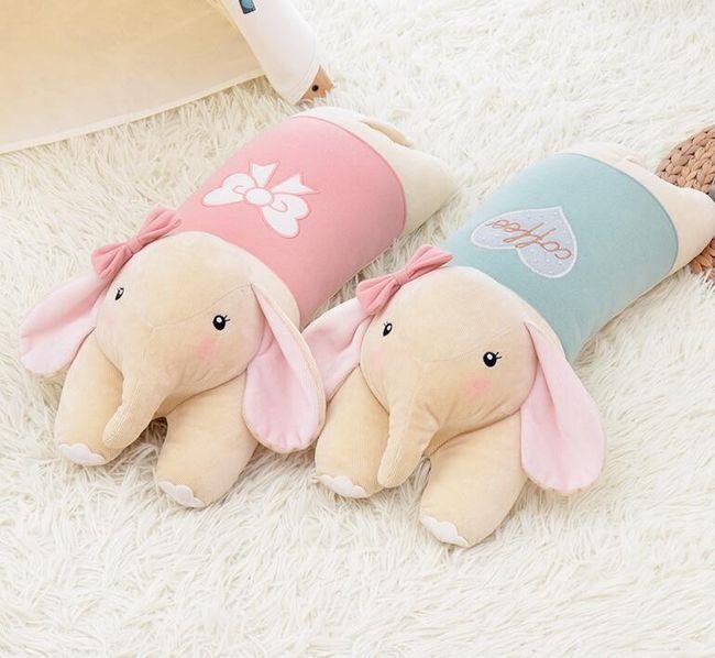 Плюшевая подушка в виде слоника- 53 см. 1