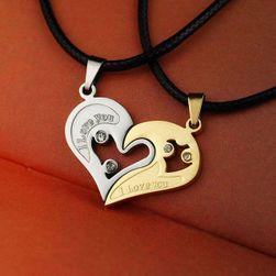 2 ogrlice za zaljubljene - 4 boje