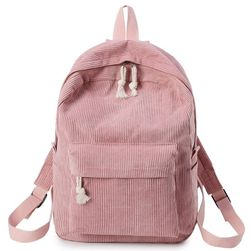 Ženski ruksak od somot materijala - 6 boja