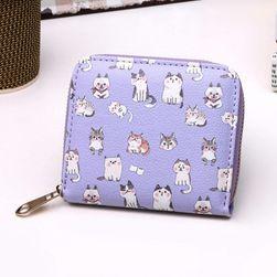 Roztomilá peněženka s kočičkami - 6 barev