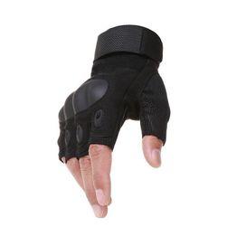Pánske taktické rukavice s ochranou kĺbov - Black-L