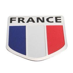 Naklejka 3D na samochód - francuska flaga - 5 x 5 cm