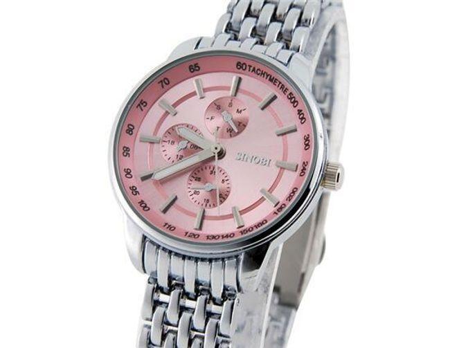 Dámské hodinky SINOBI s růžovým ciferníkem 1