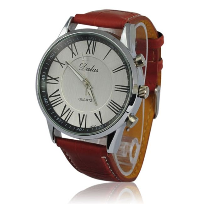 Kulaté analogové hodinky v klasickém stylu 1