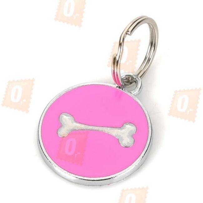 Kulatá psí známka s motivem kosti - ve 2 barvách 1