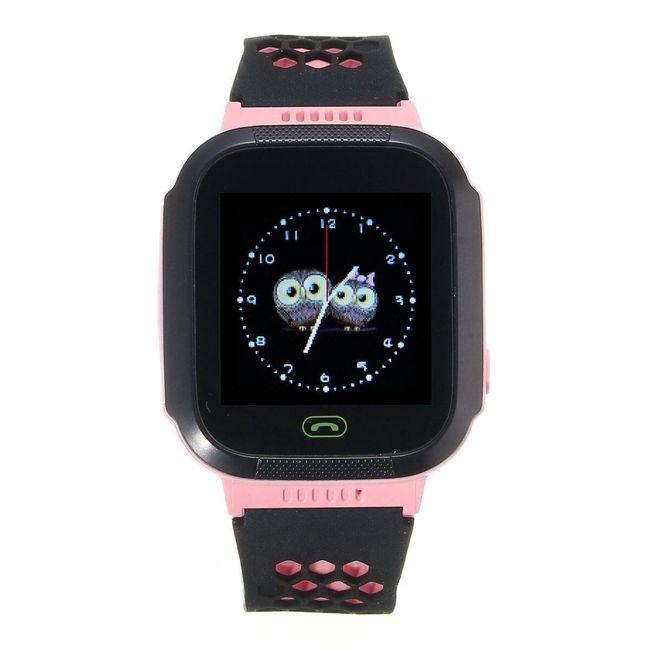 Chytré hodinky s GPS lokátorem - modrá 1