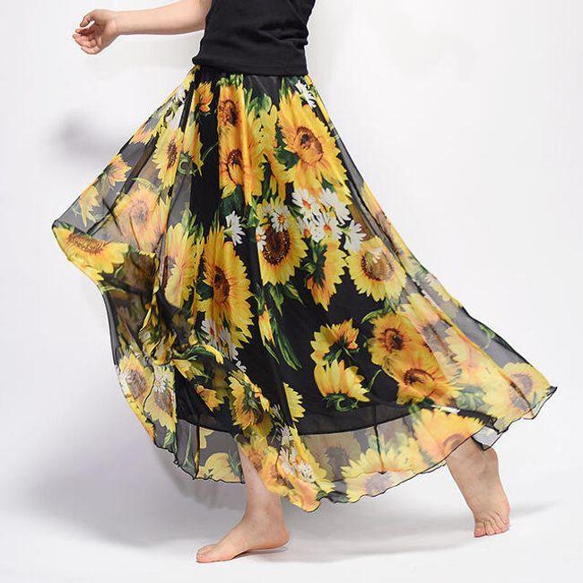 Dugačka vazdušno propustljiva suknja Summer - razne varijante 1