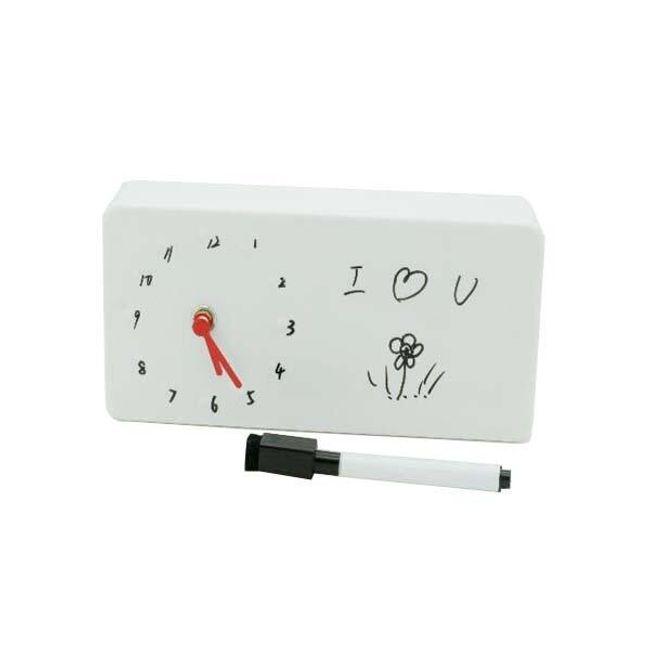 Kreativní stolní hodiny - bílé 1