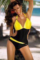 Enodelne ženske kopalke - rumena, velikost 2