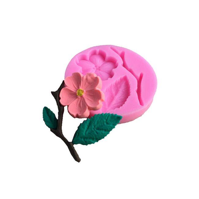 Silikonová formička - broskvový květ 1