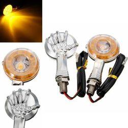 LED-indikátorok halmaza csontváz kézzel