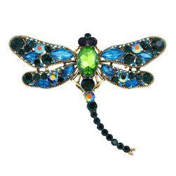 Broșă decorată cu pietre - libelula
