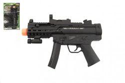 Pistole samopal plast 29cm na baterie se světlem se zvukem a vibracemi na kartě RM_00311509