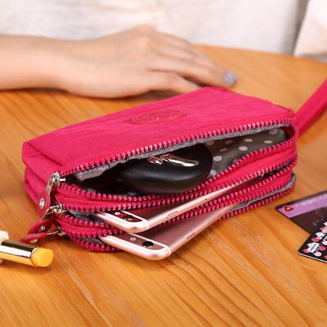 Dámská peněženka s místem na drobnosti - 5 barev 1