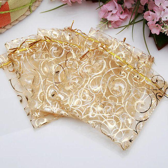Ajándék táskák arany díszekkel - 100 db 1