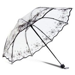Przezroczysty elegancki stylowy parasol