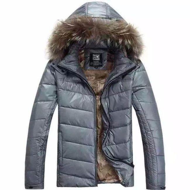 Pánská zimní bunda Raphael s umělým kožíškem  1