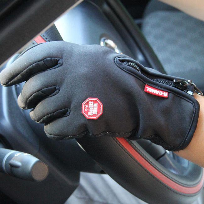 Kolesarske rokavice z zadrgo - 3 barve 1