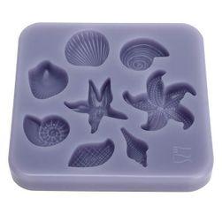 Szilikon forma édességek dekorációjának előállításához - tenger gyümölcsei