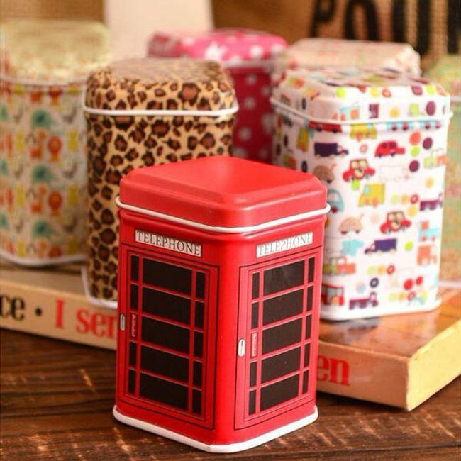 Plechové krabičky s různými motivy 1