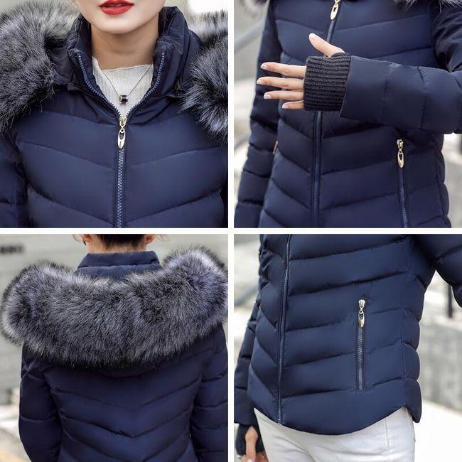 Szép meleg dzseki bozontos prémes kapucnival - 5 szín