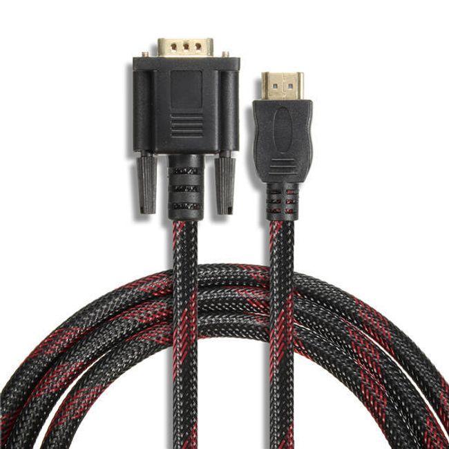 Cablu HDMI VGA cu 15 pini (1,5 m) 1