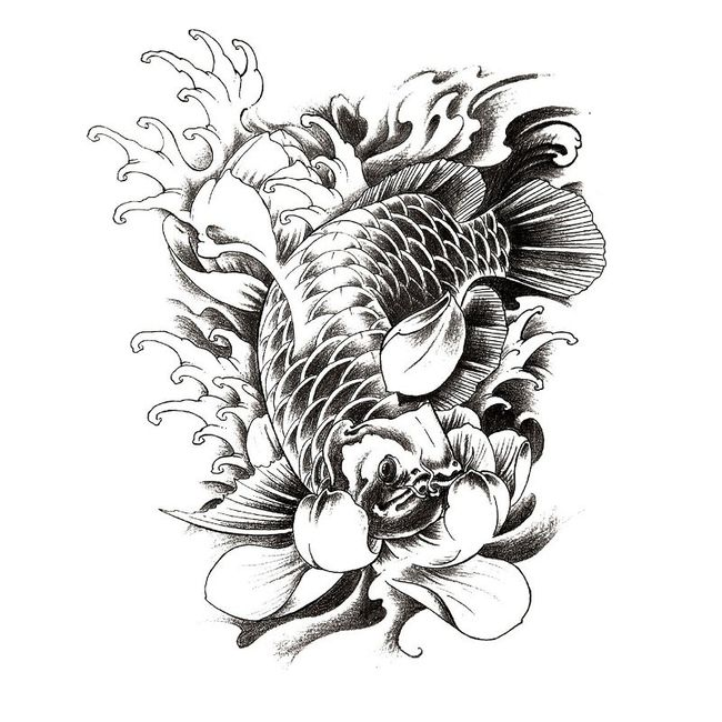 Voděodolné tetování s kaprem 1