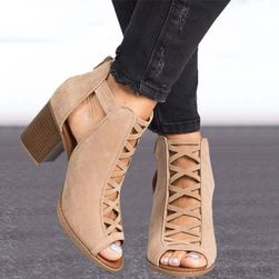 Dámské sandály na podpatku Tallis Béžová-7.5