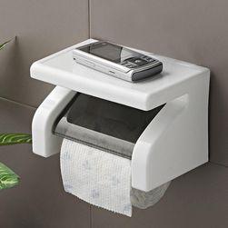 Držalo za toaletni papir s polico