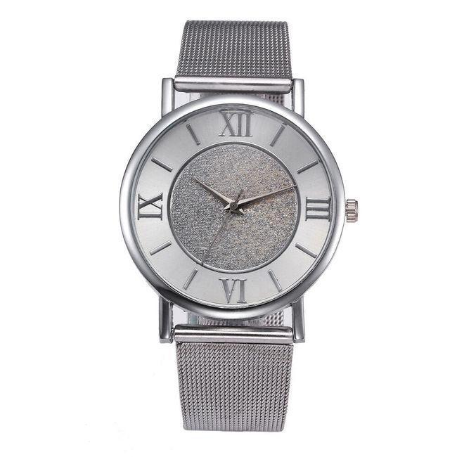 Ženski metalni sat sa rimskim brojevima 1