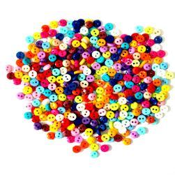 Kolorowe mini guziki - 600 sztuk