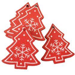 Dřevěné vánoční ozdoby - 10 kusů