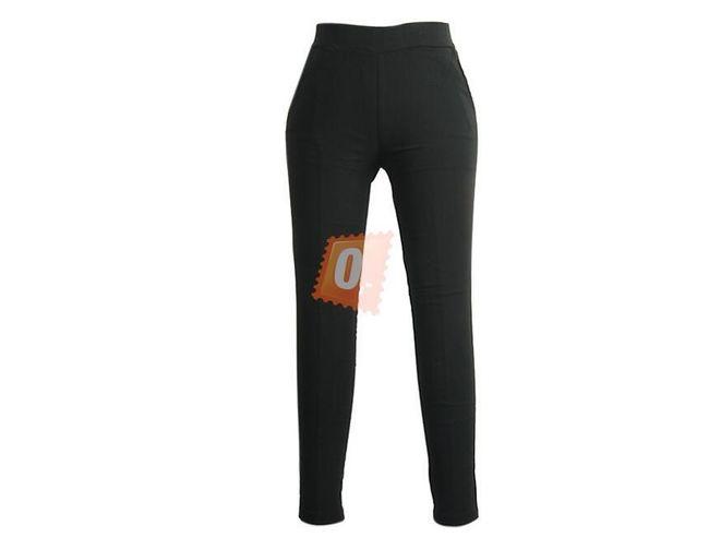 Dámské volné kalhoty v černé barvě 1
