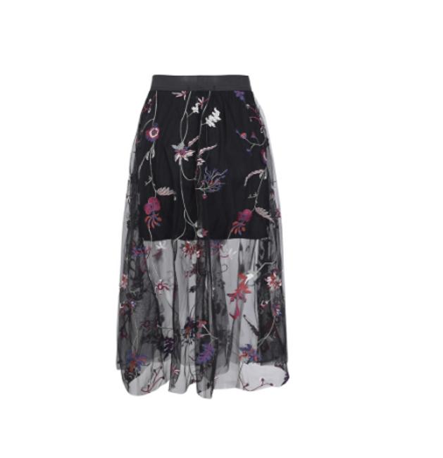 Květinová sukně s vyšším pasem 1
