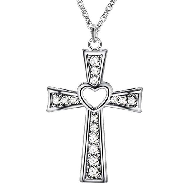 Náhrdelník s přívěskem kříže 1