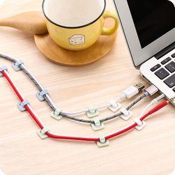 Set de cleme adezive pentru cabluri - 18 bucati