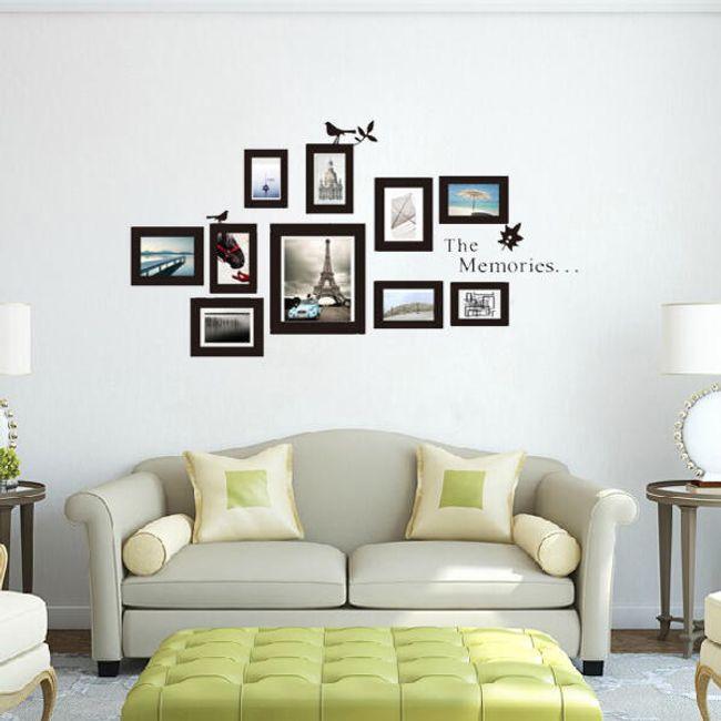 Стикер за стена в дизайн на фоторамки - 10 бройки в различни размери 1