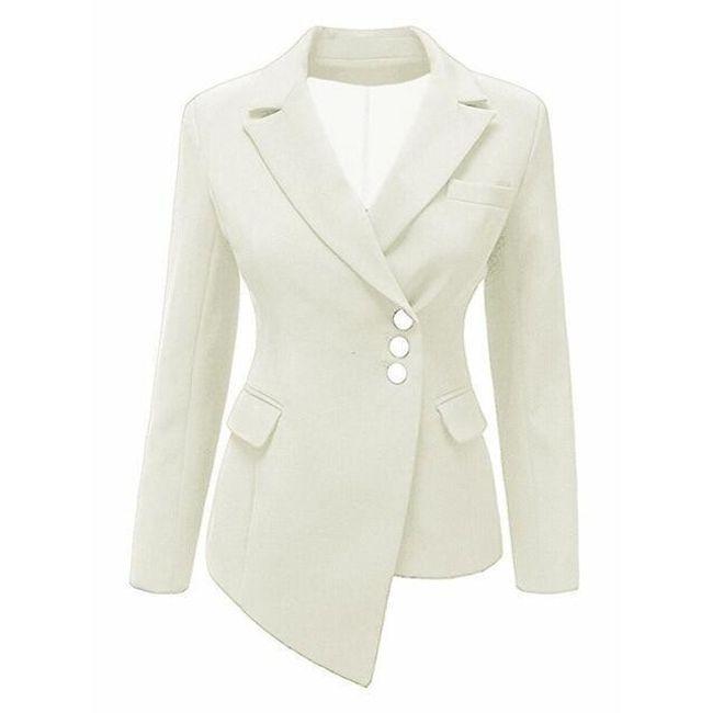 Aszimmetrikus női kabát